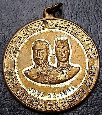 King George & Queen Mary Coronation Celebration Medal - June 22, 1911
