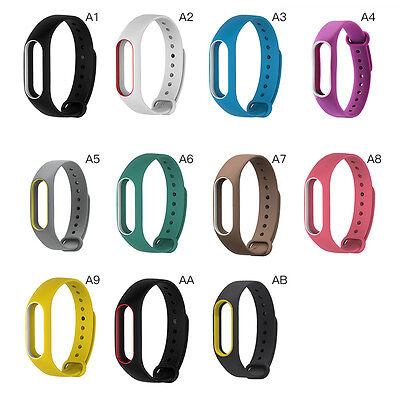 Fashion New Silicone Strap Wrist Bands Bracelet Replacement for Xiaomi Mi Band 2