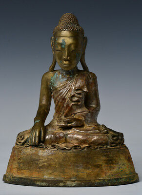Early 19th C., Early Mandalay, Antique Burmese Bronze Seated Figure