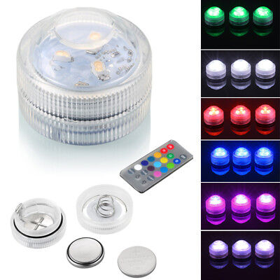 1/10pcs RGB Underwater Remote Swimming LED Pool Spa Bath Light Underwater Lamp