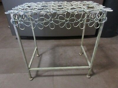 Vintage Mid Century Daisy Chain Side Patio Table 1950's Metal