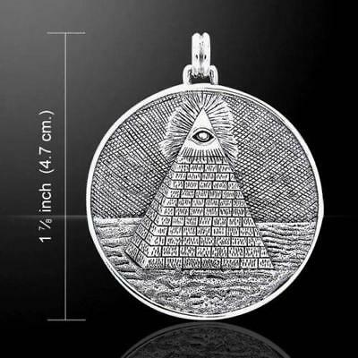 The All-Seeing Eye of God / Providence Pyramid Sterling Silver Pendant