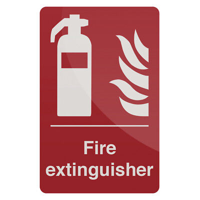 Fixman 297918 200 x 300mm Self-Adhesive Fire Extinguisher Sign
