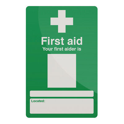 Fixman 390578 200 x 300mm Rigid Your First Aider Sign