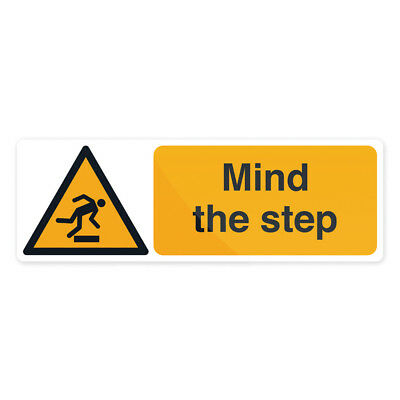 Fixman 713473 300 x 100mm Self-Adhesive Mind The Step Sign