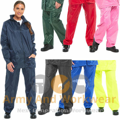 Ladies Mens Waterproof Rain Over Trousers Overtrousers Work Camping Walking