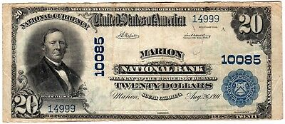 $20 1902 Pb Marion Ntlb Marion, Sc Ch#  10085 Choice Very Fine