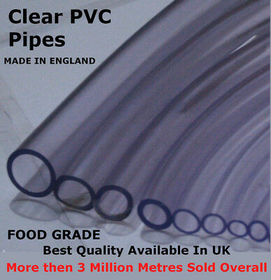 Clear Pvc Flexible Tubing Fish Pond Hydroponics Plastic Hose Water Pipe Tube