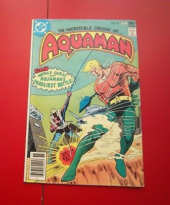 Aquaman #58 Through A Past Darkly!   Bronze Age - 1977