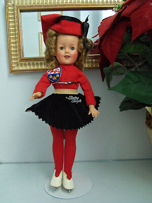 Shirley Temple St-12 Doll Wearing Original Ice Skater Outfit