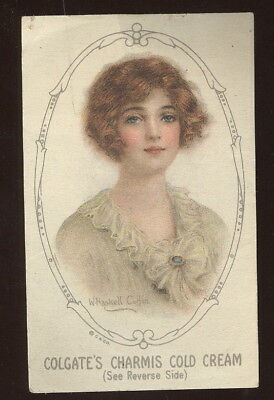 Beautiful Paper Advertising Card, Haskell Coffin Illustrated, Colgate Cold Cream