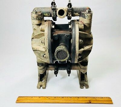 """Aro 1/2"""" Air Diaphragm Pump 666053-344  Polypropylene Body USED FOR PARTS"""