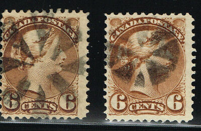 Canada  Small Queen 39 X2 Vf Fancy Son Cancel (Ocr13,4