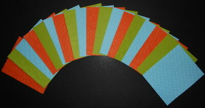 LIGHTWEIGHT EMBOSSED PAPER x 18 - 3 COLOURS - 6 DESIGNS- SCRAPBOOKING/CARDS