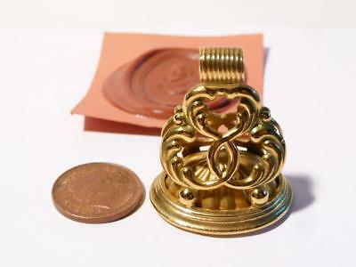 19thC Victorian William Shakespeare Gold Intaglio Wax Fob Seal Large #WS1