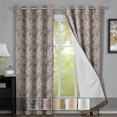 Bali Grommet Top Blackout Curtains Thermal Insulated Window Curtains (Set of 2 )