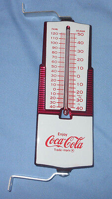 VINTAGE ENJOY COCA COLA COKE THERMOMETER -- OUTSIDE WINDOW - METAL w/box NOS