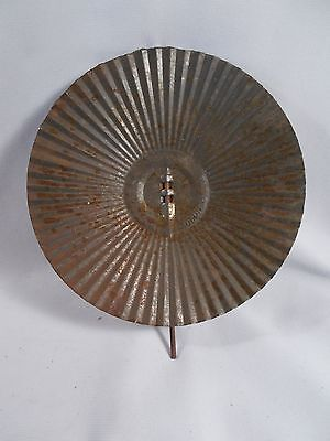 Victorian EAGLE Tin Ribbed Reflector for Cast Iron or Barn Bracket Lamp c1880s