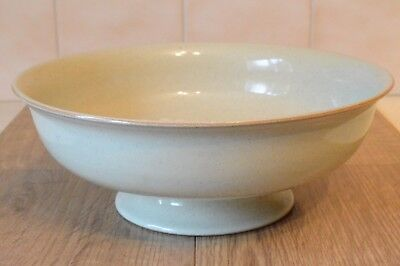 Large Denby Pottery Daybreak Footed Fruit Bowl