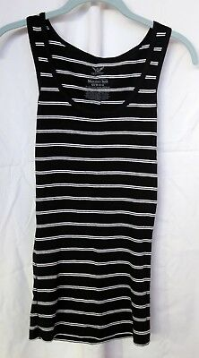 9c61a1b76ee3d4 FADED GLORY WOMENS Must Have Tank Top small 4-6 black   white stripe ...