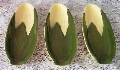 3 Shawnee Corn Queen Holders #79 - Darker Shuck & Lighter Corn Oven Proof
