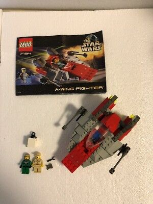 Lego 6207 A Wing Fighter Star Wars 100 Complete With 2 Minifigs No