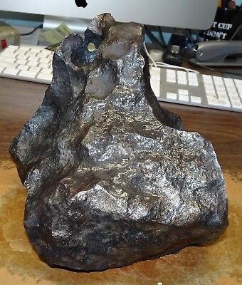 Huge 8.494 Kgm Gibeon  Meteorite Namibia ; 18.6 Lbs Etched Window ;burn Hole