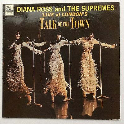 Diana Ross & Supremes Live At London's Talk Of The Town UK LP Motown STML 11070