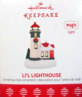 "2017 Hallmark Miniature Ornament ~  ""li'l Lighthouse""  ~ Magic With Light"