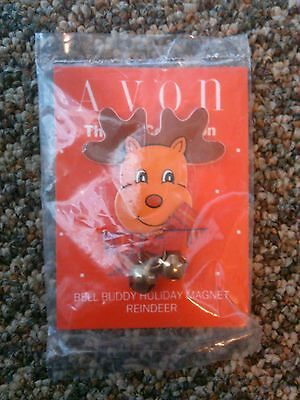 Avon Gift collection Bell buddy holiday magnet reindeer Christmas jingle bells
