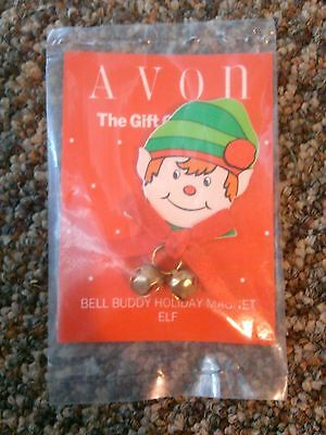 Avon Gift collection Bell buddy holiday magnet elf Christmas jingle bells fridge