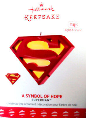 "2017 Hallmark Superman Ornament~ ""a Symbol Of Hope"" ~ Magic With Light & Sound"