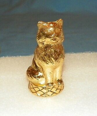 Vintage Gold Metal Persian Cat Trophy Topper New Old Stock