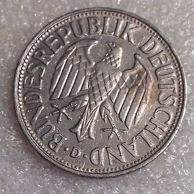 Germany 1 Mark 1956D Copper-Nickel