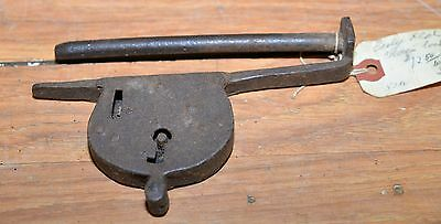 Antique 18th century gate door chain lock blacksmith made collectible early tool