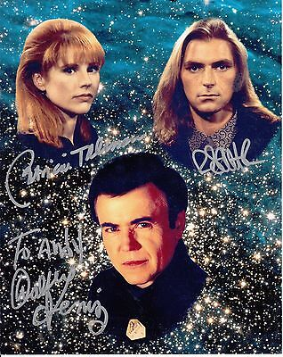 "Babylon 5 Signed by 3 Autograph Convention 8""x10"" Photo To Andy"