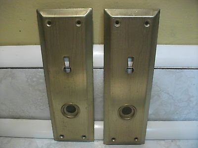 Vintage Door Steel Backplates Skeleton Keyhole Brass Finish