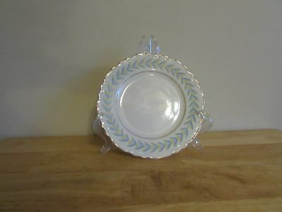 """W S George China Radisson 7"""" Salad Plate White Yellow Tulips Blue Leaves Gold Tr"""
