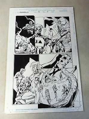 THUNDERBOLTS #13 page #10 original comic book art MARK BAGLEY of SPIDER-MAN FAME