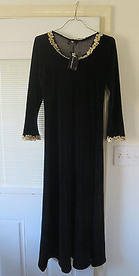 Women's MUSEUM REPLICAS LIMITED Black long dress SCA Size M RENAISSANCE