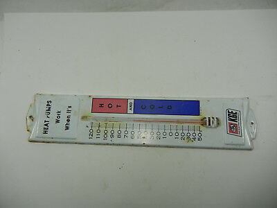 Vintage KG & E. Metal Thermometer Sign Advertising