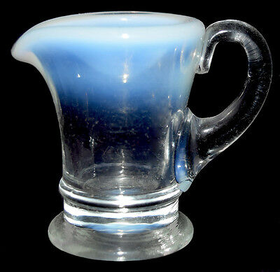 Fenton French Opalescent #37 Miniature Handled Jug / Pitcher
