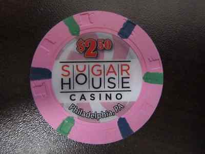 $2.50 SUGAR HOUSE Philadelphia PA Gaming Casino Chip for Vintage Collection