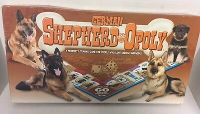 GERMAN SHEPHERD-Opoly Monopoly Board Game Wooden Pieces Late For The Sky XX