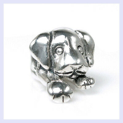 Sterling Silver Cute Puppy House Dog Animal Pet Bead for European Charm Bracelet