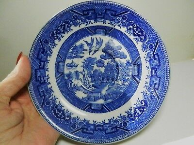 """Shenango China BLUE WILLOW Heavy 6 1/4"""" Saucer-Made in New Castle,Pa-VTG"""