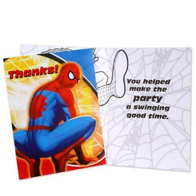 Spider Man Sense Thank You Cards And Envelopes 8 Ct Spiderman