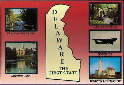 (w20) Postcard: Delaware, The First State