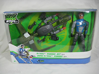 "Max Steel NTEK Turbo Jet 11"" Action Figure Set with Missile Launcher N-TEK New"