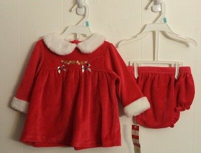 Mrs Claus Red Christmas Dress Baby Girl Size 6-9 Months 16 - 18 lbs FREE SHIP